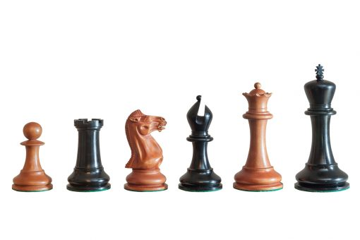 1849 Staunton Original Series 4.4 inches Chess Pieces in Ebony and Antiqued Boxwood