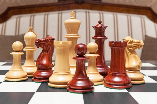 1849 Original Staunton Luxury Chess Pieces in Padauk and Boxwood
