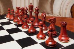 "The 1849 Staunton chess pieces (Padauk) on the 60 cm ""Asturias"" board"