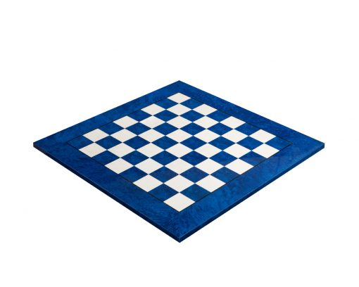 Capri – 51 cm hand-made Italian Blue Erable Luxury Chess Board with 5 cm squares
