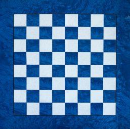 Capri – 51cm / 5,0 cm Squares Blue Chess Board by Design Chess. Made in Italy.