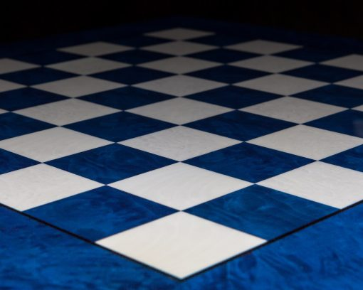 Capri – Hand-made Blue Erable Luxury Chess Board made in Italy
