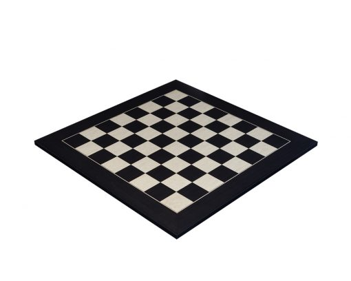 Asturias – 60 cm Black Spanish Chess Board with 6 cm squares