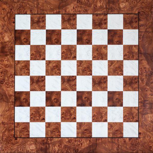 Toscana –6 cm Square-Sized Root of Elm Matt Finish Luxury Chess Board