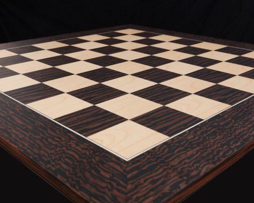 Andalucia – 6 cm Square-Sized Tiger Ebony Spanish Chess Board