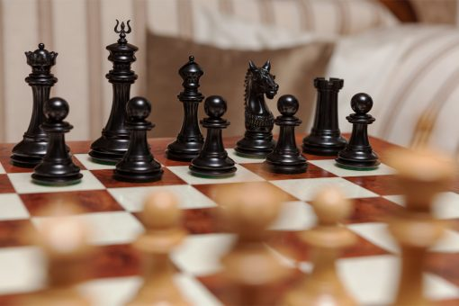 The Apollo Series Chess Pieces in Ebony and Boxwood