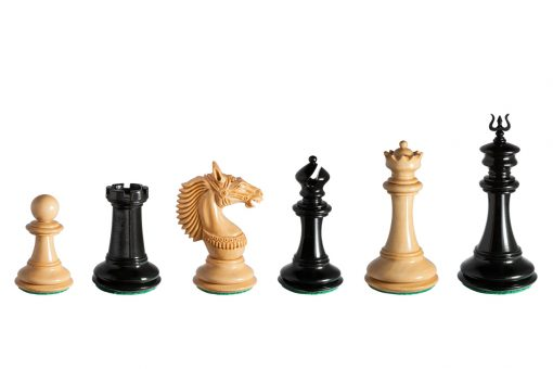The Apollo Series 4.4 inches Chess Pieces in Lacquered Ebony and Boxwood