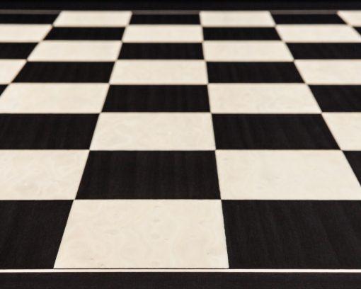 Asturias –60 cm Black Spanish Chess Board - zoom on squares