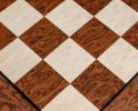 Cordoba, a 50 cm Spanish Chess Board from brown ash burl