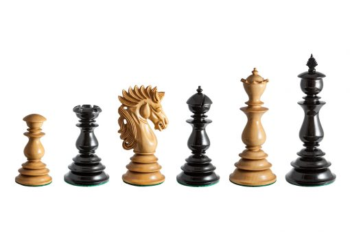 Dali Series 4.4 inches club-size lacquered chess pieces in Ebony and Boxwood