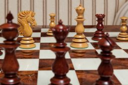The Dali Series Lacquered Luxury Chess Pieces in Padauk and Boxwood