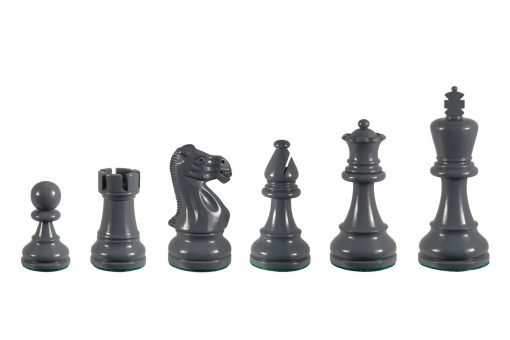 Earl Grey 3.75 inch tournament-size chess pieces in Coloured Boxwood