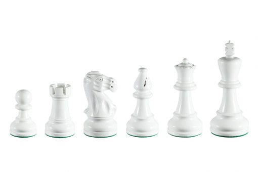 Earl White 3.75 inch tournament-size chess pieces in Coloured Boxwood