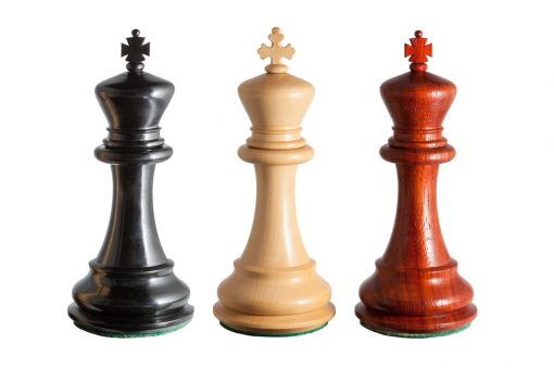 Three Florence 4.75 inch Luxury Chess Series Kings with different finials