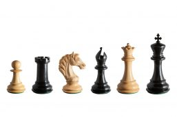 Florence Series 4.75 inch Club-Size Chess Pieces in Ebony and Boxwood